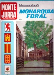 """2014Portada de Montejurra proponiendo como """"solución para España"""" la """"Monarquía Foral"""""""
